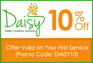 10% Off - Offer Valid on Your First Service (Promo Code: DAISY10)